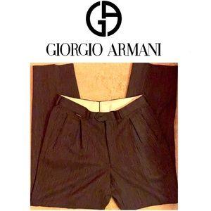 Men's Vintage Giorgio Armani Wool Dress Pa…